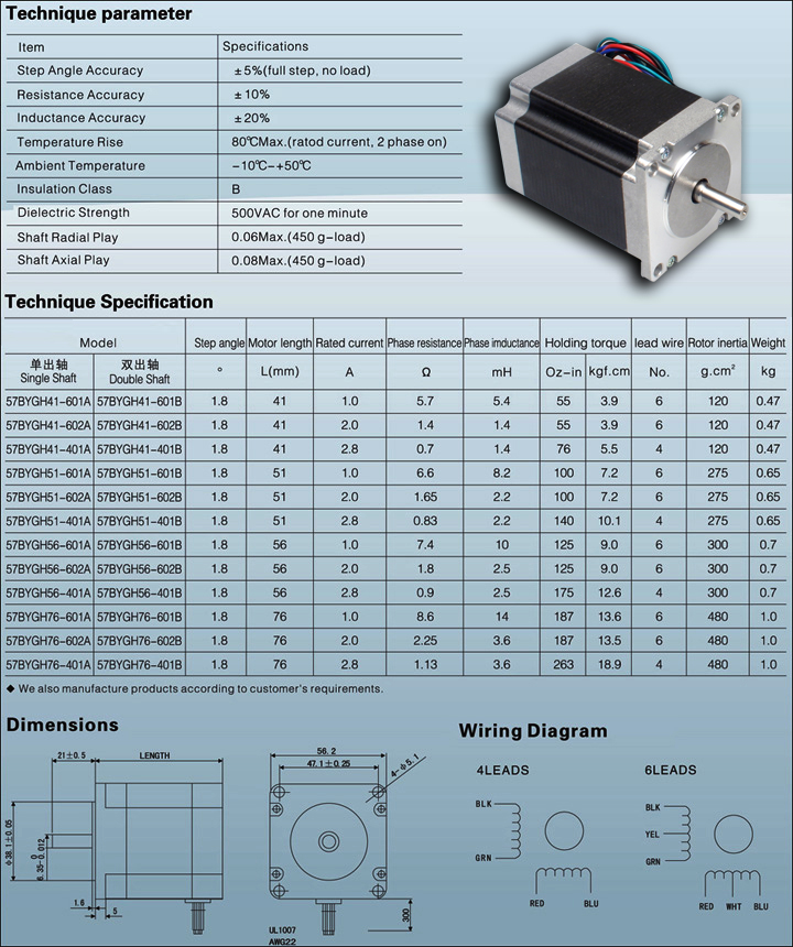 Stepper motor nema 23 datasheet for Nema 17 stepper motor datasheet