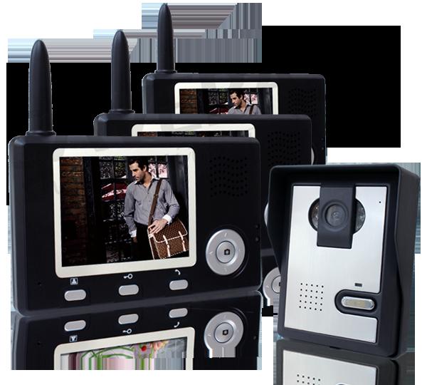 funk t rsprechanlage bildspeicher 1 kamera 3 monitore ebay. Black Bedroom Furniture Sets. Home Design Ideas