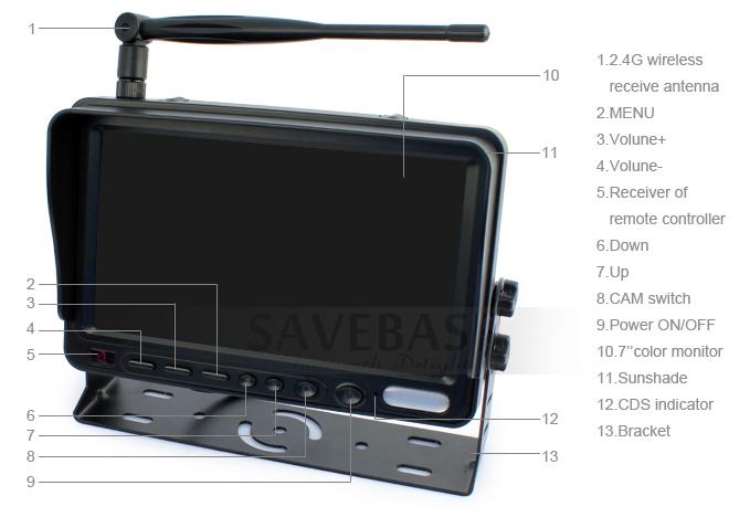 funk fahrzeuge r kfahr kamera 7 lcd monitor f r. Black Bedroom Furniture Sets. Home Design Ideas
