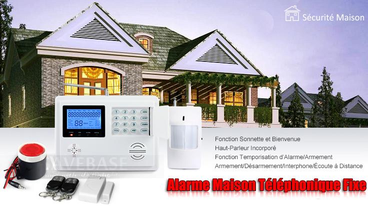 alarme maison sans fil auto appel 5 d tecteur porte 3 radar 1 sir ne flash. Black Bedroom Furniture Sets. Home Design Ideas