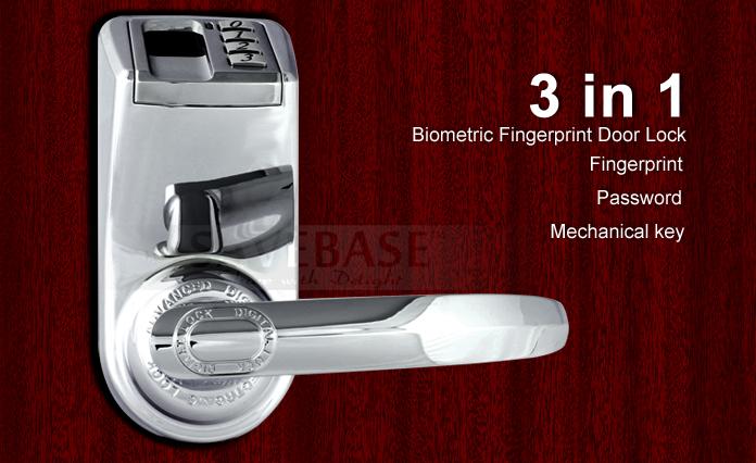 Diy Adel3398 Fingerprint Keyless Diy Door Lock Left And