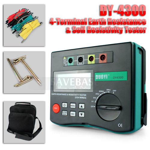 Cable Resistance Tester : Wire digital earth resistance resistivity tester