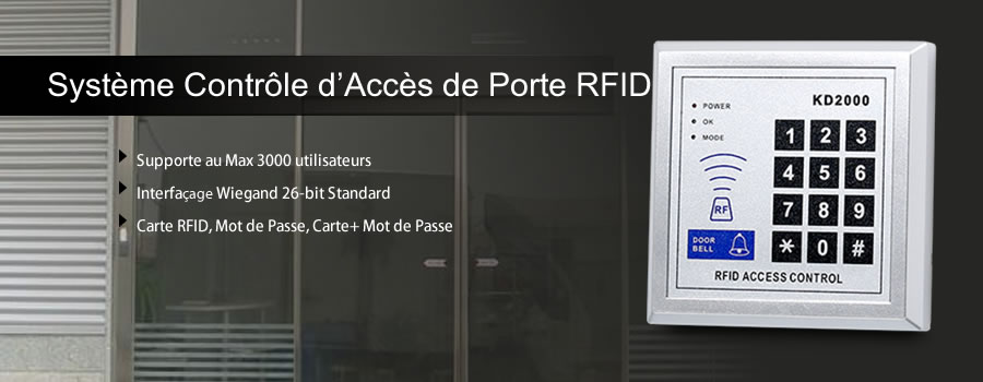 kit securit bureau digicode rfid cartes et cl s g che. Black Bedroom Furniture Sets. Home Design Ideas