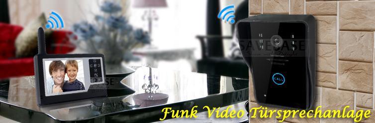 video sprechanlage funk mit monitor klingel und kamera ohne strom und kabel ebay. Black Bedroom Furniture Sets. Home Design Ideas
