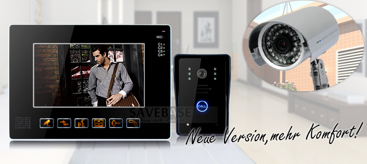 9 tft farb video t rsprechanlage mit ir funktion und cctv kamera touchpad ebay. Black Bedroom Furniture Sets. Home Design Ideas