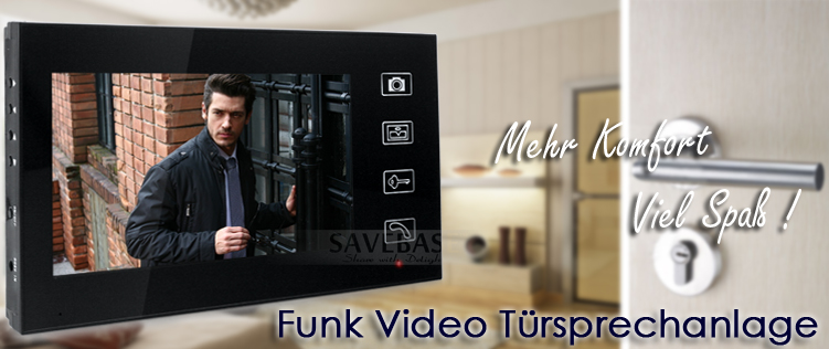 7 funk video t rsprechanlage gegensprechanlage monitor klingel farb kamera akku ebay. Black Bedroom Furniture Sets. Home Design Ideas