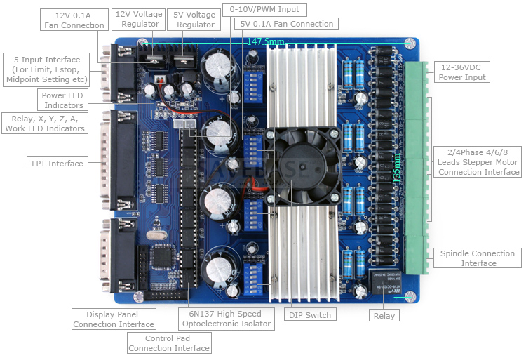 4 axis intelligent tb6560 stepper motor driver lcd display for Tb6560 stepper motor driver manual