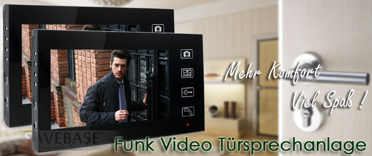 funk video t rsprechanlage mit 2 monitor und nachsicht. Black Bedroom Furniture Sets. Home Design Ideas