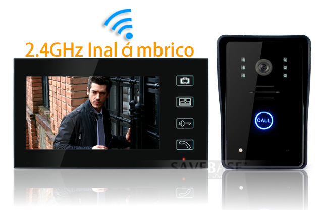 7 tft lcd videoportero telefonillo inal mbrico - Video portero inalambrico ...