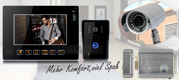 9 tft farb video t rsprechanlage mit ir funktion und cctv. Black Bedroom Furniture Sets. Home Design Ideas