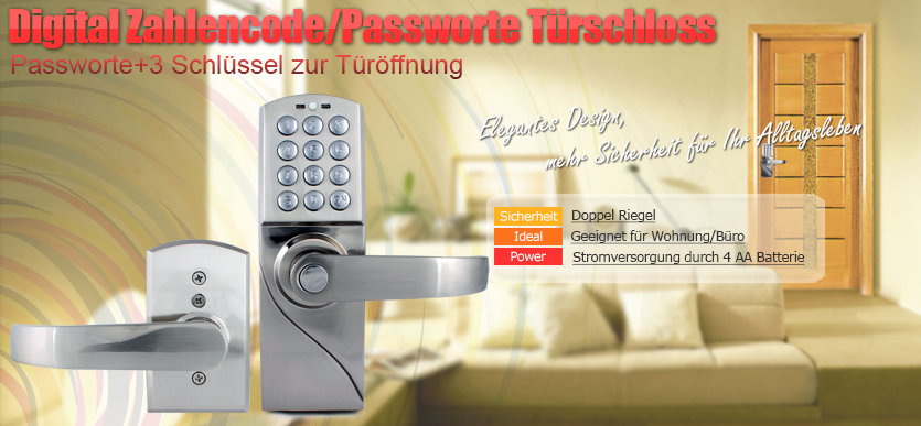 digital zahlencode passwort t r ffner 3 schl ssel mit hochleistung und sicher ebay. Black Bedroom Furniture Sets. Home Design Ideas