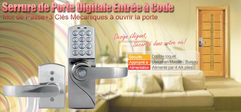 nouvelle serrure digicode serrure porte lectronique entr e par code ebay. Black Bedroom Furniture Sets. Home Design Ideas