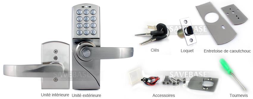 nouvelle serrure digicode serrure porte lectronique entr e par code. Black Bedroom Furniture Sets. Home Design Ideas