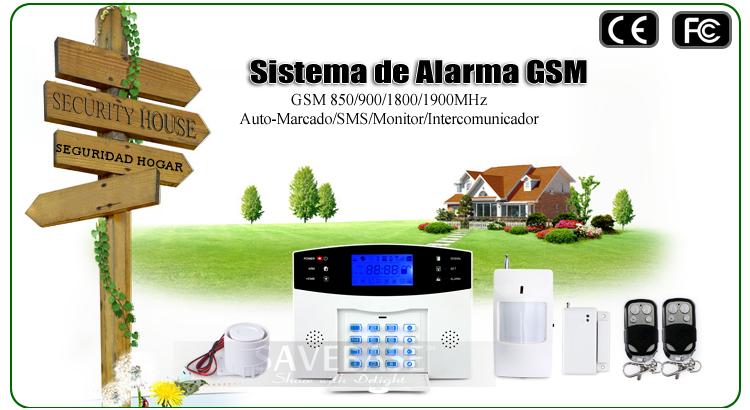Kit de sistema de alarma inal mbrica gsm sms seguridad - Sistema de alarma gsm ...