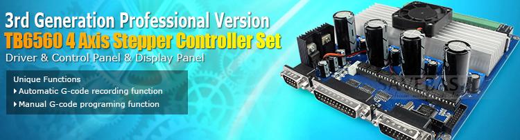 New 4 axis cnc stepper motor driver tb6560 set lcd for Tb6560 stepper motor driver manual