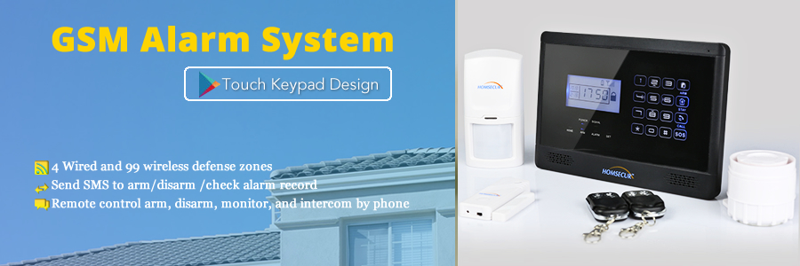 Homsecur Wireless Amp Wired Gsm Sms Home Security Alarm System