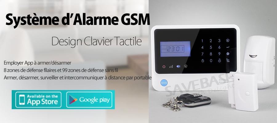 2015 alarme maison bureau gsm sans fil bicolore avec app