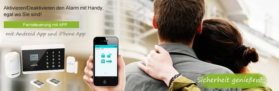 android iphone app gsm pstn automatikwahl sicherheit alarmsystem rauchmelder ebay. Black Bedroom Furniture Sets. Home Design Ideas