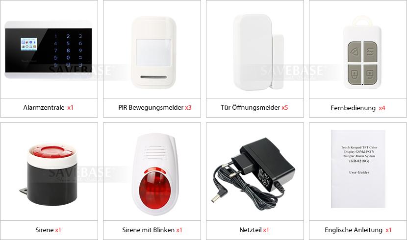 homsecur funk gsm haussicherheit alarmsystem 3pir sensoren sirene mit blinken ebay. Black Bedroom Furniture Sets. Home Design Ideas