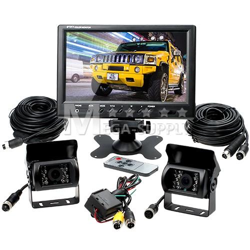 "Reversing Kit 9"" LCD Monitor 2 CCD IR Backup Cameras Horse"