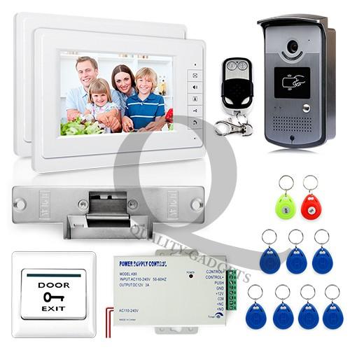 verdrahtet video 7 klingelanlage mit zutrittskontrolle 700tvl kamera rfid unlock ebay. Black Bedroom Furniture Sets. Home Design Ideas