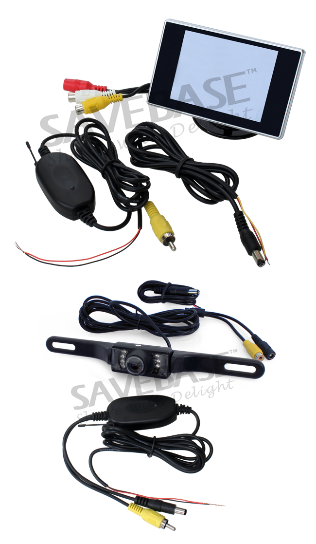 Wireless Car Reversing Rear View Camera + LCD Monitor