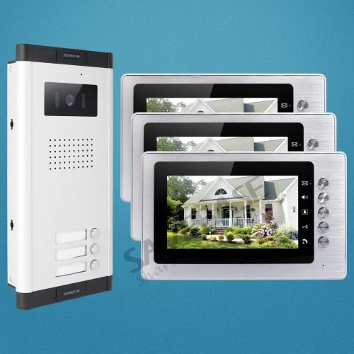7 video klingelanlage intercom system mit nachtsicht kamera f r haussicherheit ebay. Black Bedroom Furniture Sets. Home Design Ideas
