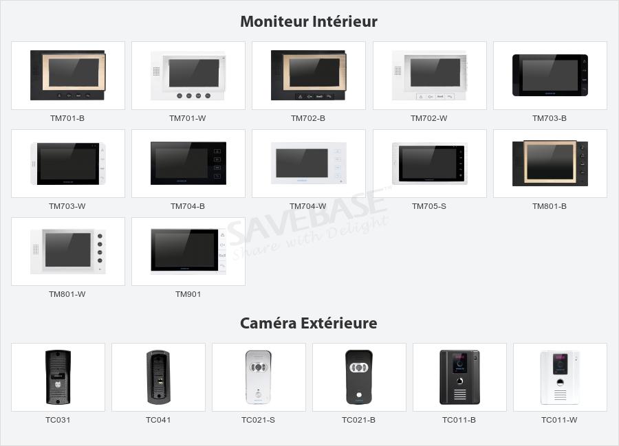 2 Moniteur uoweky 4,3 Pouces TFT Couleur Interphone Vid/éo Sonnette Vid/éo Syst/ème Interphone Vid/éo IR Vision Nocturne Cam/éra /Étanche 1//2 Moniteurs pour La Maison