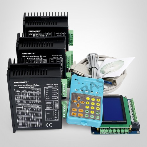 Details about 3 Axis CNC Kit Mach3 Professional Control Board & EMA2-080D72  Stepper Drivers